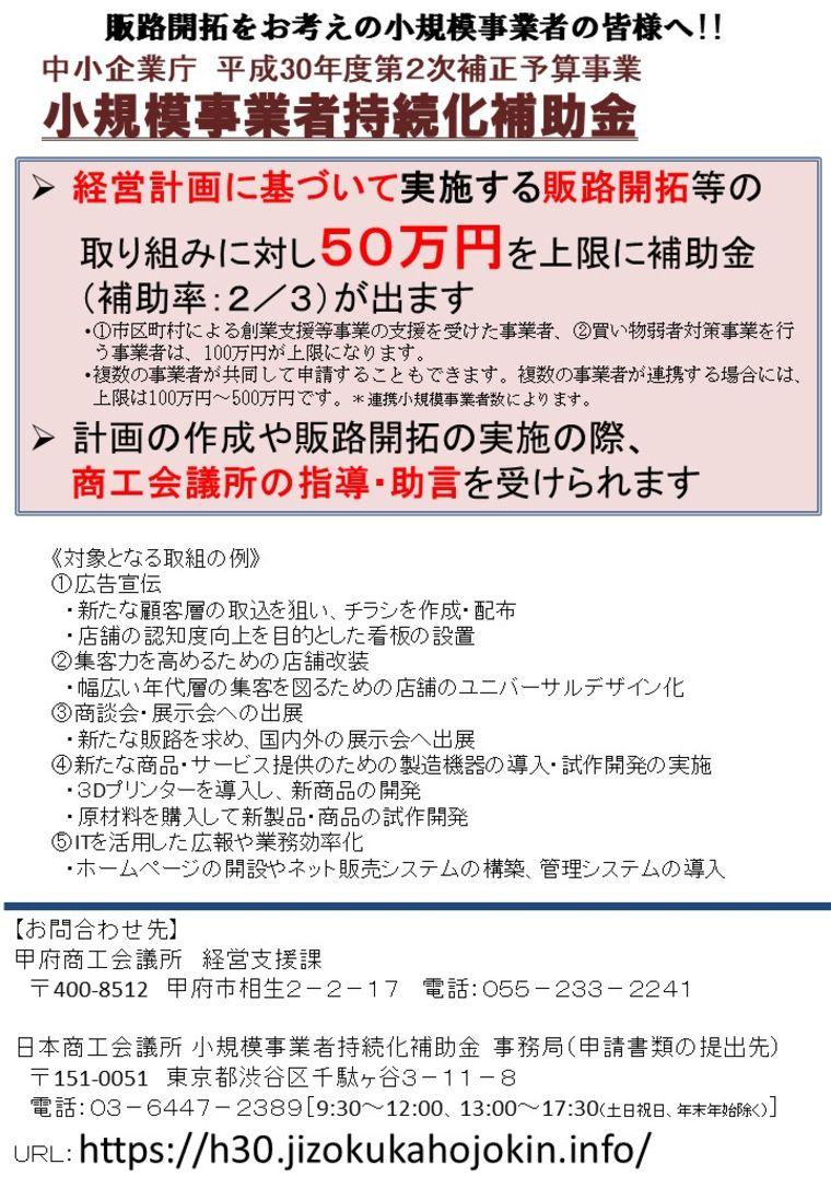 補助 持続 化 日本 所 商工 金 会議